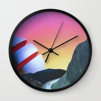 trip Wall Clocks featuring Trip by Djuno Tomsni