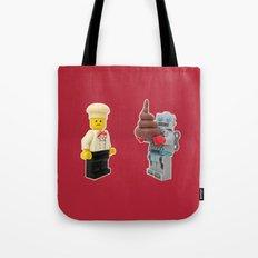 Lego cook & robot misunderstanding Tote Bag