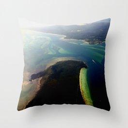 Flying into Brisbane ~ Australia Throw Pillow