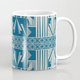 Art Deco Abstract Soft Teal Coffee Mug