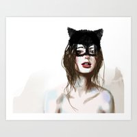 superheroes Art Prints featuring Superheroes SF by Dnzsea