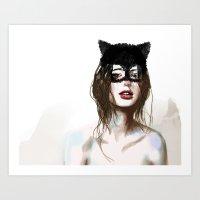 superheroes Art Prints featuring Superheroes SF by Dnzsea