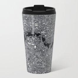 London map black and white Travel Mug