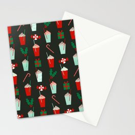 Holiday drinks peppermint mocha latte coffee seasonal sweet dessert treats Stationery Cards
