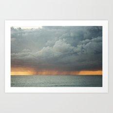 Sunset Storm  Art Print