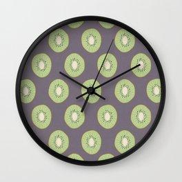 Kiwi Fruit Pattern Wall Clock