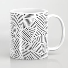 Abstraction Linear Inverted Mug