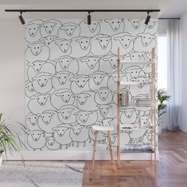 A Bunch of Sheepies Wall Mural