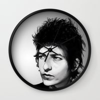 dylan Wall Clocks featuring Bob Dylan by Studio Caro △
