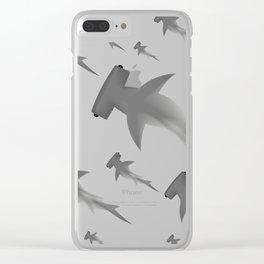 Hammerhead shark school Clear iPhone Case