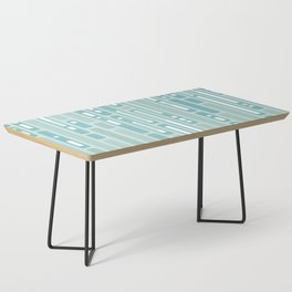 Ocean Reflection – Blue / Teal Midcentury Abstract Coffee Table