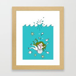 Dive In! Framed Art Print