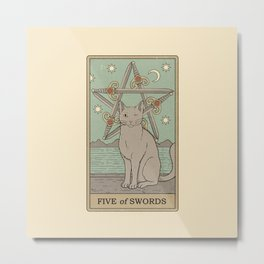 Five of Swords Metal Print