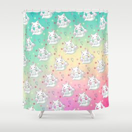 Kyubey Pattern Shower Curtain