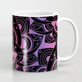 Colored Lotus Flower Black Rainbow Coffee Mug