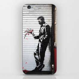 Banksy, Man with flowers iPhone Skin