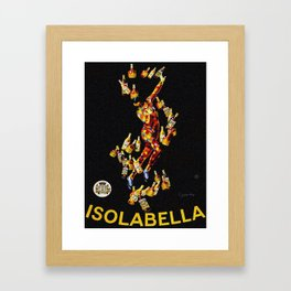 Vintage 1920's Leonetto Cappiello  IsolaBella Lithograph Advertising Wall Art Style 4 yellow text Framed Art Print