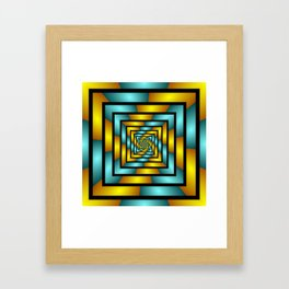 Colorful Tunnel 2 Digital Art Graphic Framed Art Print