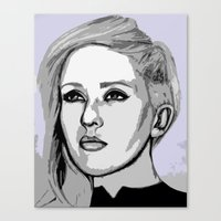 ellie goulding Canvas Prints featuring Ellie Goulding - pop art by CBDB