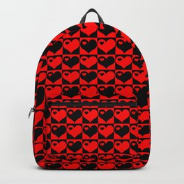 Hearts Love Collage Backpack