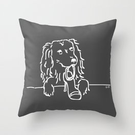 City Dogs: Shoe Diva {Truffle} Throw Pillow