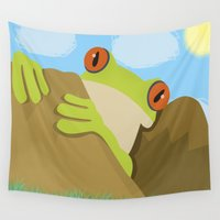 frog Wall Tapestries featuring Frog by Nir P