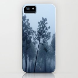 Fog and Forest II-wood,mist,romantic, greenery,sunset,dawn,Landes forest,fantasy iPhone Case