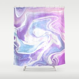 space marble Shower Curtain