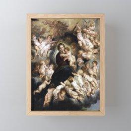 Peter Paul Rubens Maria with Child in Angel Wreath Framed Mini Art Print