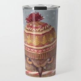 Christmas Owl  Travel Mug