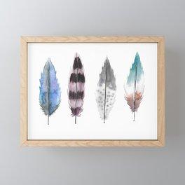 Feathers, Four Framed Mini Art Print