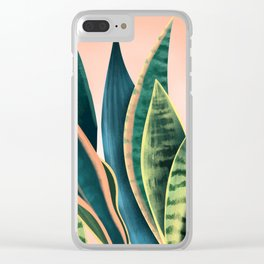 Snake plant Clear iPhone Case