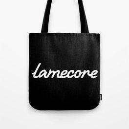 Lamecore (white) Tote Bag