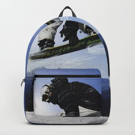 Born To Fly Snowboarder & Mountains Backpack