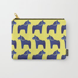 Dala Horse Pattern Carry-All Pouch