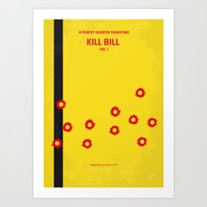 No048 My Kill Bill -part 1 minimal movie poster Art Print