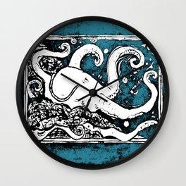 Shiny Metal Thing Octopus Wall Clock