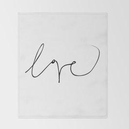 LOVE NO3 Throw Blanket