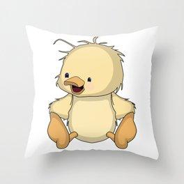 Darling Duckling Throw Pillow