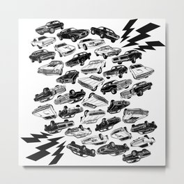 Muscle Car Mania Metal Print