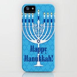 Happy Hanukkah Lit Menorah iPhone Case