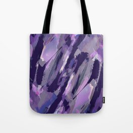 Thunder Plum Abstract Tote Bag