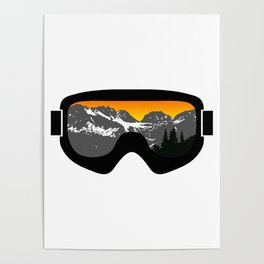 Sunset Goggles 2 | Goggle Designs | DopeyArt Poster