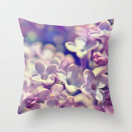 Spring 301 lilac Throw Pillow
