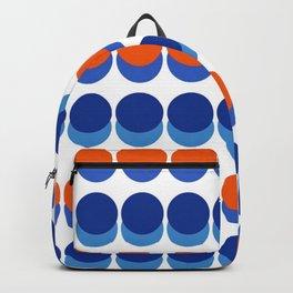 Vibrant Blue and Orange Dots Backpack