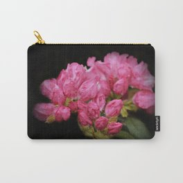 Rhododendronbuds on black Carry-All Pouch