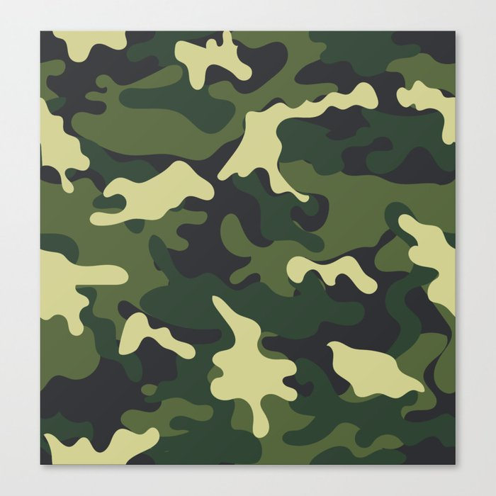 Army Green Camouflage Camo Pattern Canvas Print by ...