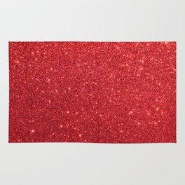 Ruby Red July Leo Birthstone Shimmering Glitter Rug