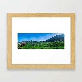 Tea Fields Landscape Framed Art Print