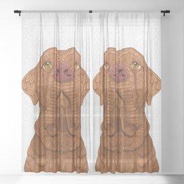 Bordeaux Mastiff Sheer Curtain
